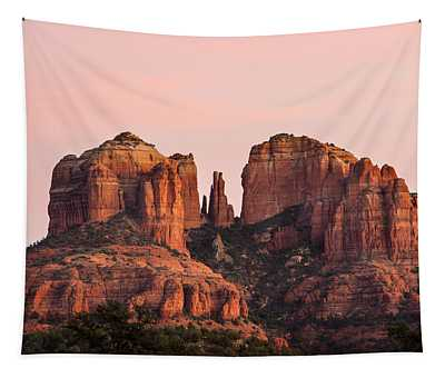 Cathedral Rock Sunset Tapestry
