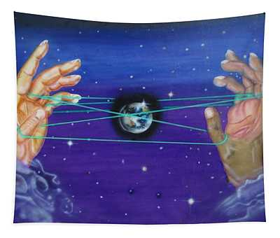 Celestial Cats Cradle Tapestry