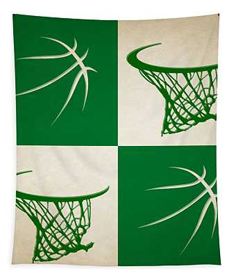 Celtics Ball And Hoop Tapestry