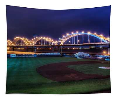 Centennial Bridge And Modern Woodmen Park Tapestry