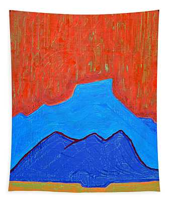 Cerro Pedernal Original Painting Sold Tapestry