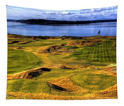 Chambers Bay Lone Tree Tapestry