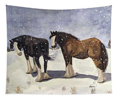 Chance Of Flurries Tapestry