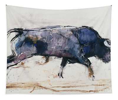Charging Bull Tapestry