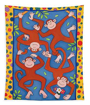 Cheeky Monkeys Wc Tapestry