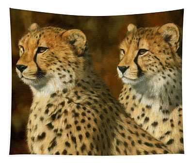 Cheetah Brothers Tapestry