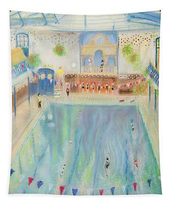 Chelsea Swimming Baths, 1997 Pastel On Paper Tapestry