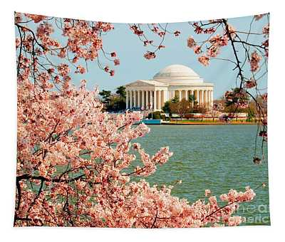 Cherry Trees At The Jefferson Tapestry