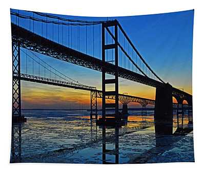 Chesapeake Bay Bridge Reflections Tapestry