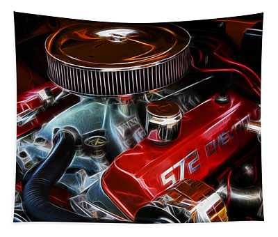 Chevy 572 Fractal Tapestry