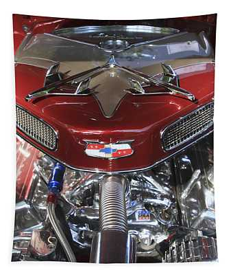 Chevy Engine Tapestry