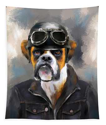 Chic Boxer Aviator Tapestry