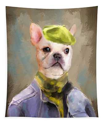 Chic French Bulldog Tapestry