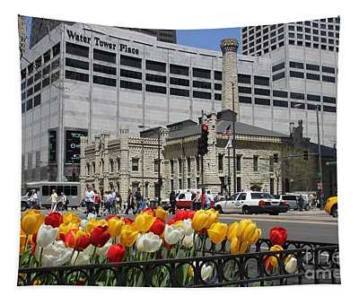 Chicago At Spring Time Tapestry