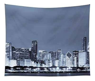 Chicago In Blue Tapestry