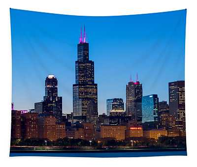 Chicago Lakefront Blues Tapestry