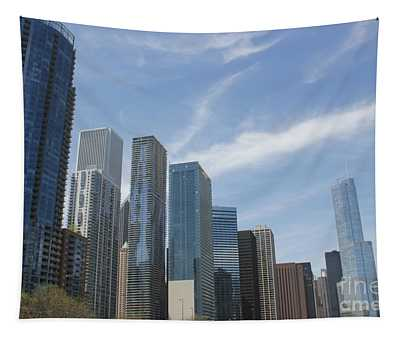 Chicago Skyscrapers Tapestry