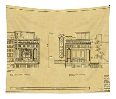Chicago Theatre Blueprint 2 Tapestry