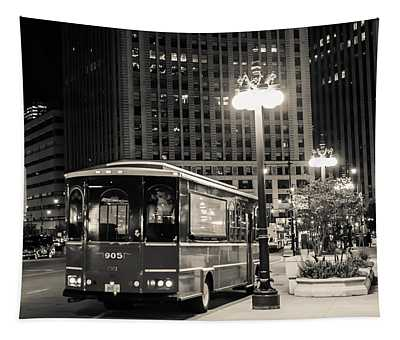 Chicago Trolly Stop Tapestry