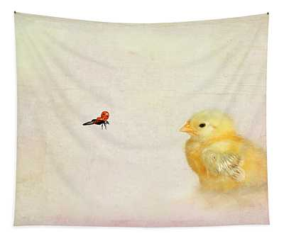 Chicken And Beetle Tapestry