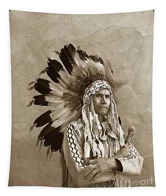 Chief Red Eagle Carmel California Circa 1940 Tapestry