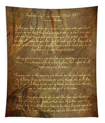 Chief Tecumseh Poem Tapestry
