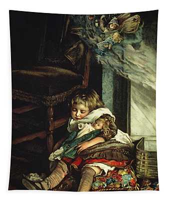 Children Dreaming Of Toys Tapestry