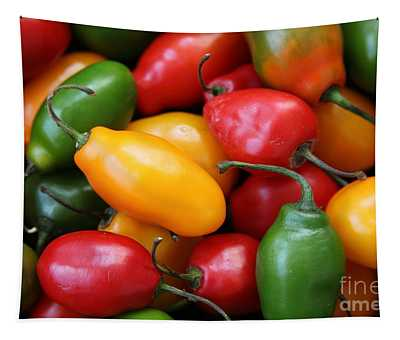 Rocoto Chili Peppers Tapestry