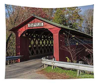Chiselville Covered Bridge Tapestry