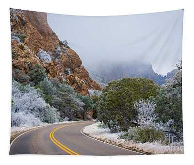 Chisos Winter Road Tapestry