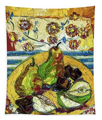 Chocolate And Pears Provence Tapestry