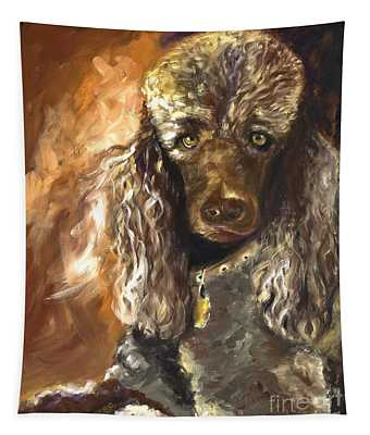 Chocolate Poodle Tapestry