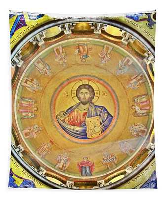 Christ Pantocrator -- Church Of The Holy Sepulchre Tapestry