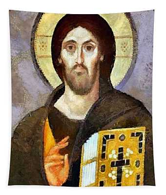 Christ Pantocrator Of Sinai Tapestry