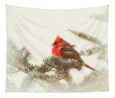 Christmas Cardinal Tapestry
