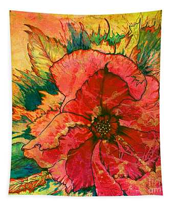 Christmas Flower Tapestry
