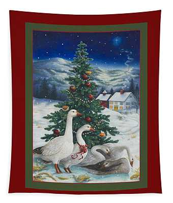 Christmas Geese Tapestry
