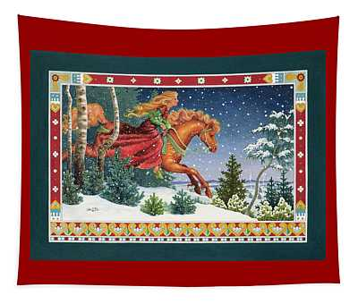 Christmas Ride Tapestry