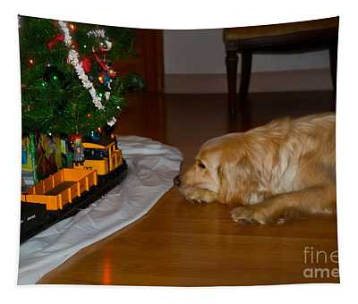 Christmas Train Tapestry