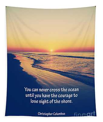 Christopher Columbus Quote Tapestry