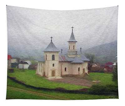 Church In The Mist Tapestry