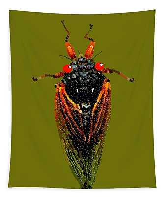 Cicada In Green Tapestry
