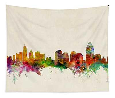 Cincinnati Skyline Wall Tapestries