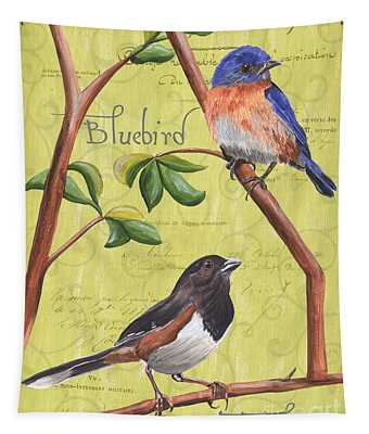 Citron Songbirds 1 Tapestry