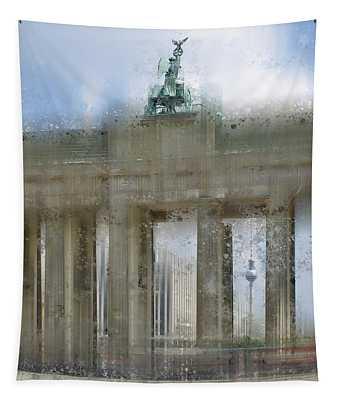 City-art Berlin Brandenburg Gate Tapestry