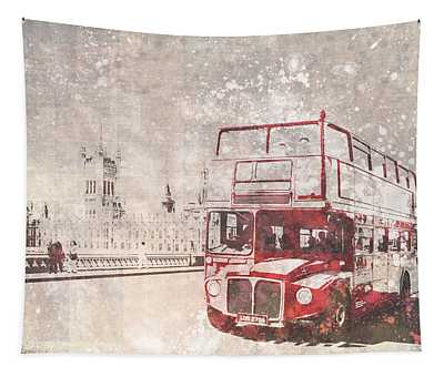 City-art London Red Buses II Tapestry