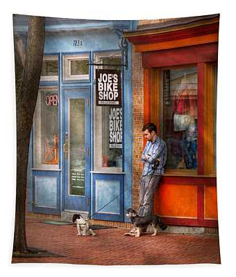 City - Baltimore Md - Waiting By Joe's Bike Shop  Tapestry