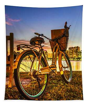 City Bike Tapestry