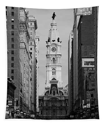 City Hall B/w Tapestry