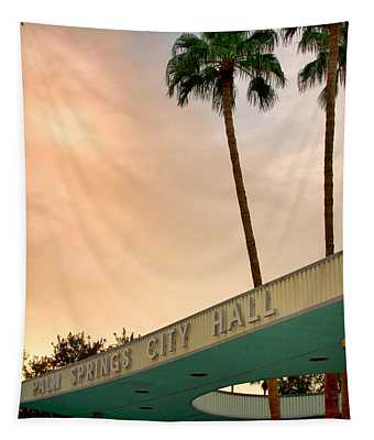 City Hall Sky Palm Springs City Hall Tapestry